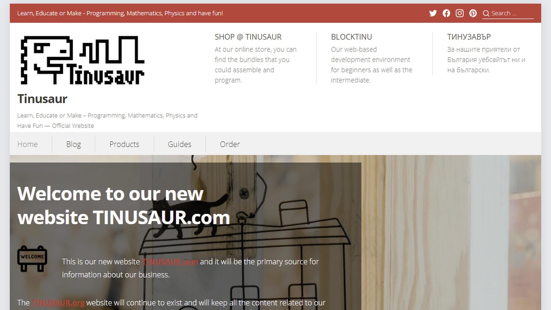TINUSAUR.com Website