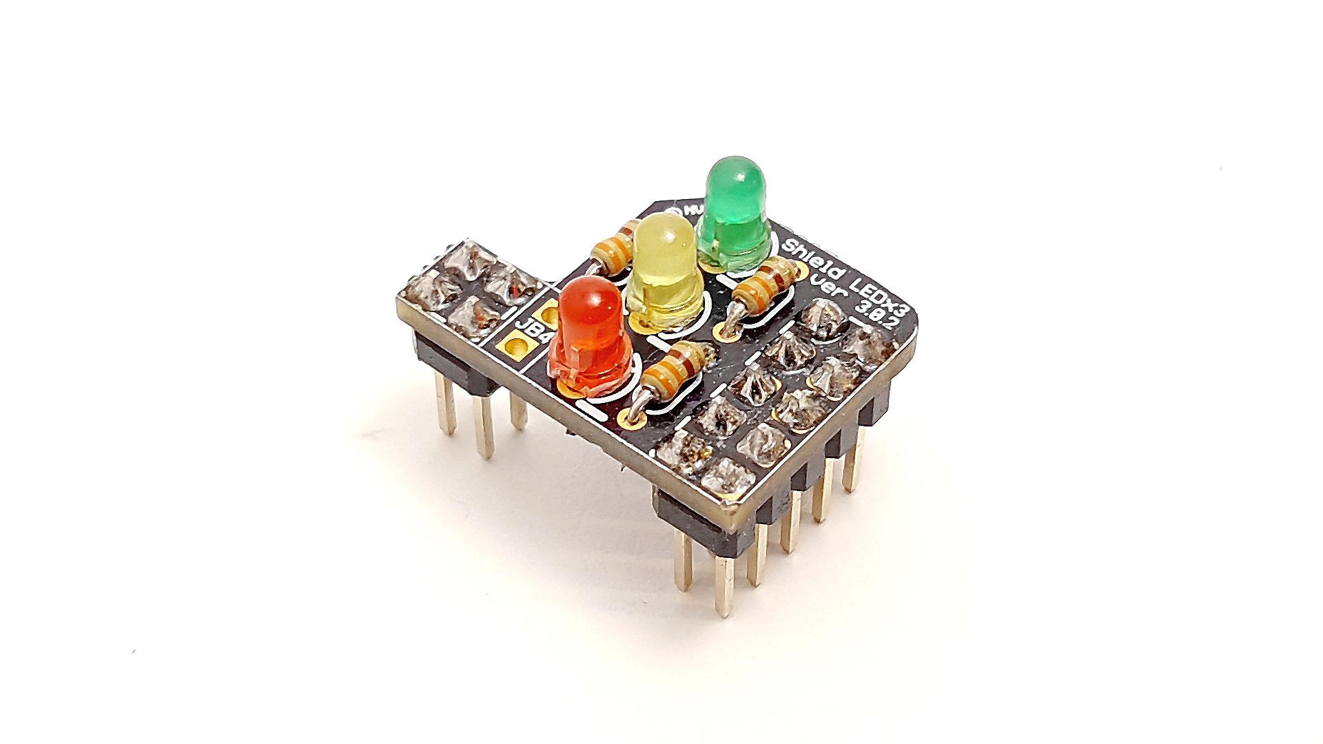 Tinusaur Shield LEDx3
