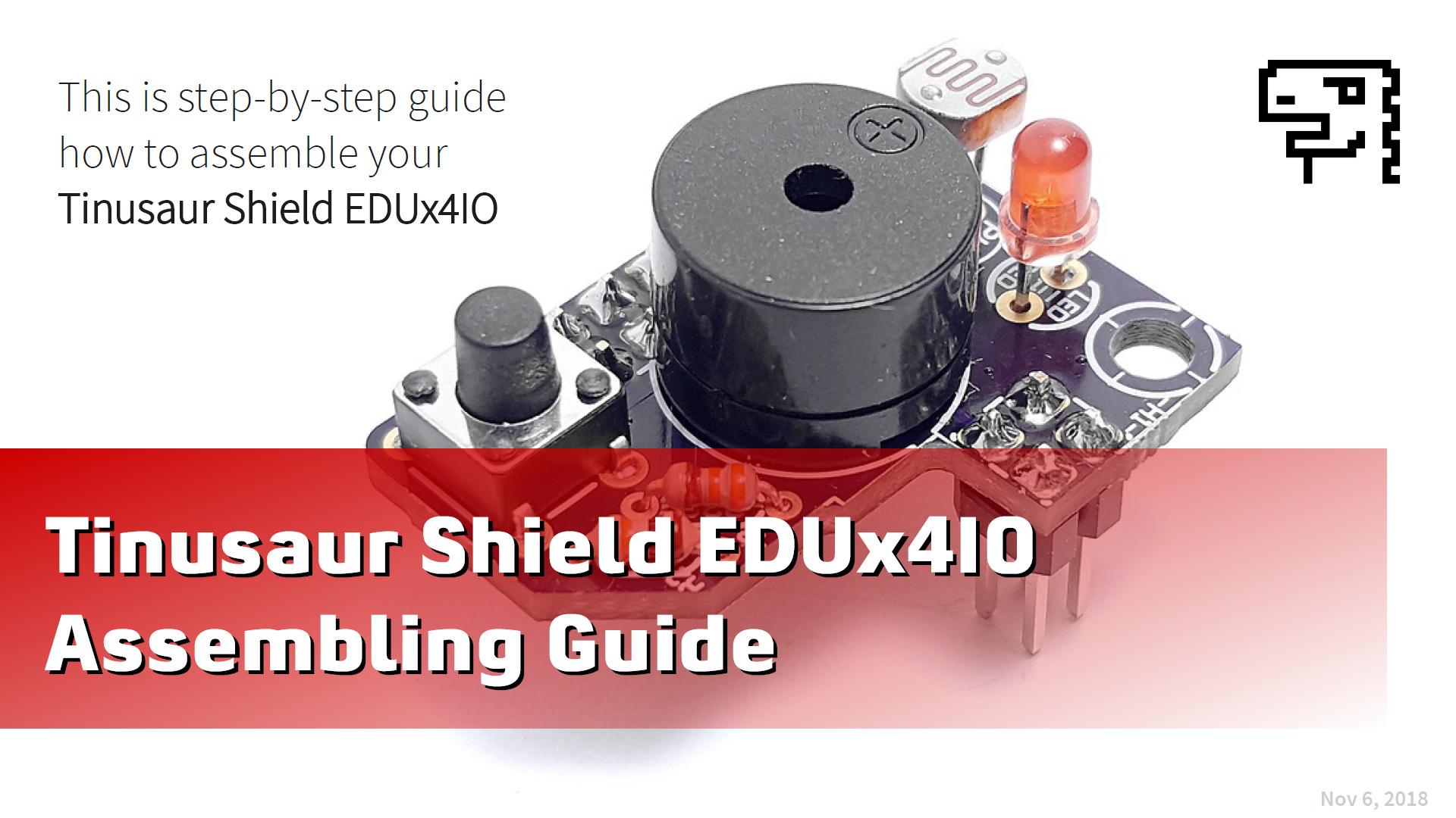 Допълнителна платка EDUx4IO – Упътване за сглобяване