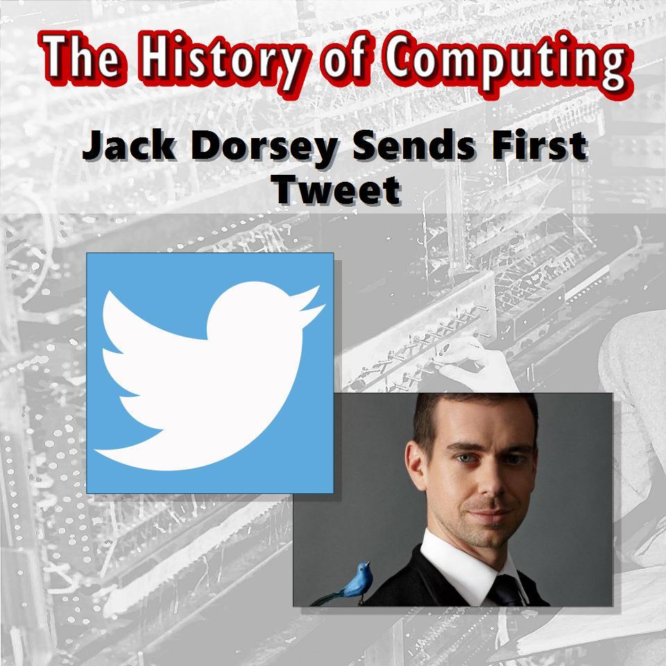 Jack Dorsey Sends First Tweet