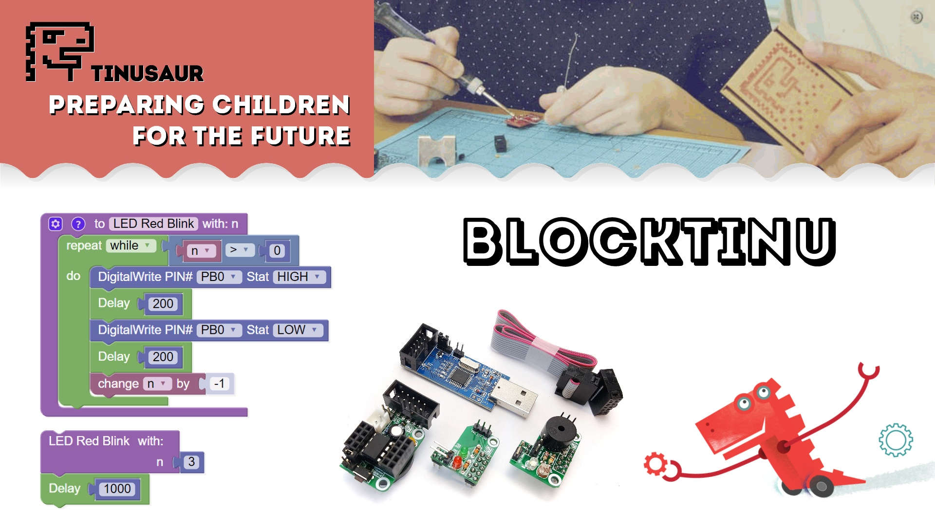Tinusaur Blocktinu Development Environment & Platform