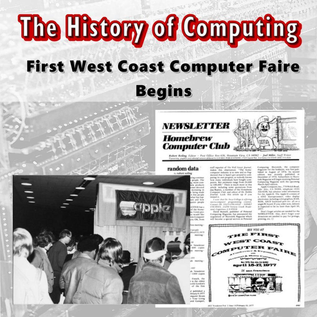 First West Coast Computer Faire Begins