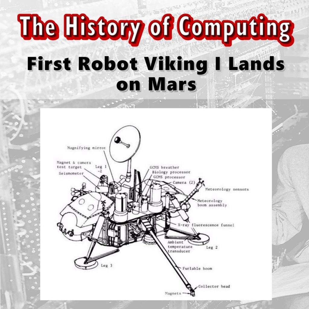 First Robot Viking I Lands on Mars